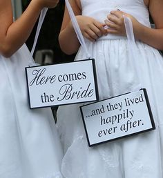 Wedding Sign - Here Comes the Bride - Flower Girl or Ring Bearer sign | eBay bearer sign, idea, brides, ebay, ring bearer, the bride, flowers, wedding signs, flower girls