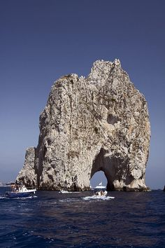 Capri Arch, Gulf of Salerno, Italy; photo by Sally Weigand