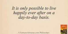 live happili, almanac philosofact