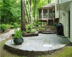 beautiful small stone patio
