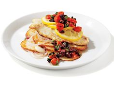 Alfred Portale's Red Snapper With Potatoes and Onions Recipe | Epicurious.com