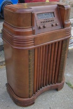 antique Philco floor model radio - $65