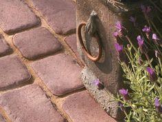 Stamped Concrete Blocks Give Look of Granite