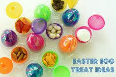 traveling with kids this Easter? fill up plastic eggs with treats and give them out as rewards for good behavior or after each hour passes to teach them about time. toddler friendly! (good idea for toddler egg hunts, as well)