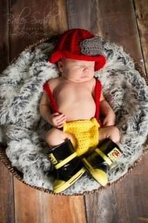 firefighter baby..Aww :)