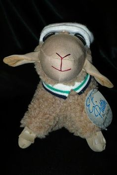 E. F. Puttin The Golfing Mutton, Lamb or Sheep Plush - 1984, 1986.  Hard to find.  Great gift for the golfer!  #efputtingolfingmutton #lamb #sheep #plush #stuffedanimal