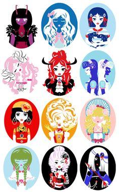 very cool zodiac girls