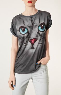 Meow, Topshop. Meow, Cat Tee.