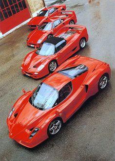 Ferrari Enzo - Ferrari F50 - Ferrari 288GTO - Ferrari F40 |--what a line up.