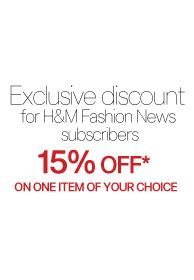15% off one item at H&M