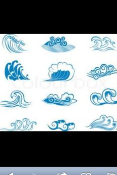 Wave tattoos... Good ideas to make my own