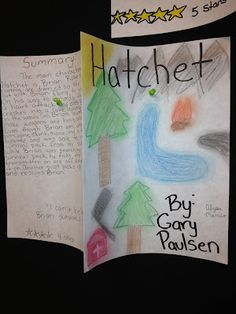 hatchet book cover final project. focus on how to summarize.