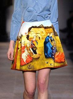 Oil Painting Print Skirt