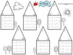 Fact Family Neighborhood- a great way to review the relationship ...