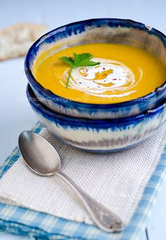 I love love love love pumpkin and crave it year-round, not just in the fall. Here is a recipe for Crema de auyama (pumpkin cream soup) which is served in the Dominican Republic, where I was born.