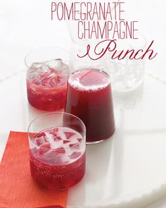 Pomegrante Champagne Punch....maybe a yummy Christmas drink?!?!