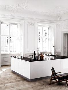 Gorgeous white wood trim