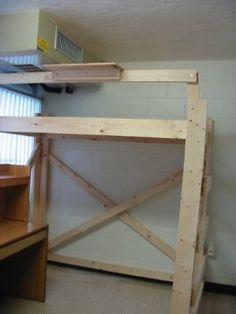 Loft bed on Pinterest | Queen Loft Beds, Loft Beds and Loft Bed Plans