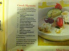 Greek appetizer skewers