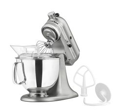 ShopKitchenAid: KitchenAid 5-Quart Tilt-Head Artisan Series Stand Mixer KSM150PSER---contour silver