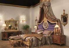 French Style Bedroom Marie Antoinette Period - Classic Furniture and Classical interior Design Ideas