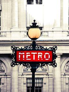PARIS METRO. #red #art #deco @Amanda Snelson Kezios