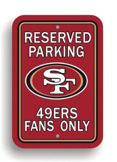 NFL San Francisco 49Ers Plastic Parking Sign