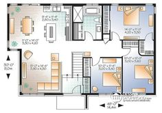 Plan maison by annelaurebourgu on pinterest small house for Plan maison 6 chambres
