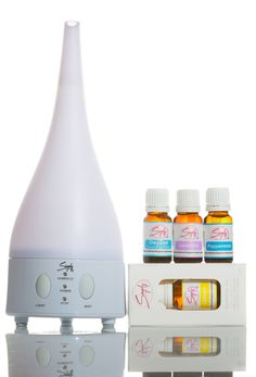 #Allergy Package #2 Includes: (Click on Picture)  1- Lavender Essential Oil 10mL 1 - Lemon Essential Oil 10mL 1 - Peppermint Essential Oil 10mL 1 - OxyZen Essential Oil (Respiratory Blend) 10mL 1 - Ultrasonic Aromatherapy Diffuser