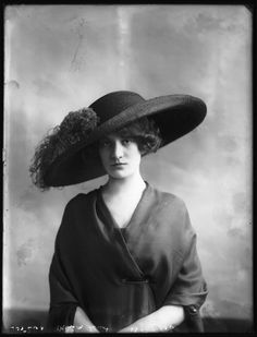 "1911 hat fashion. Very ""Merry Widow"" in style."