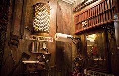 salle de bain steampunk