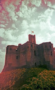 Cross-Processed Warkworth Castle.  © Chris Trew 2014 Plastic Cameras