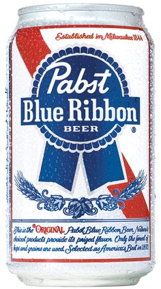 Pabst Blue Ribbon beer is THE American beer contrary to held beliefs. Budweiser may have more advertising, but Pabst is American owned AND brewed. They are also Union made to boot! All around kick ass beer. The flavor profile is malty, some what hoppy with light barley flavor.