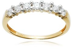 14k Yellow Gold 7-Stone Shared-Prong Diamond Ring (1/2 cttw, $349.99