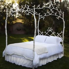 Enchanted Birch Queen Iron Canopy Bed from PoshTots