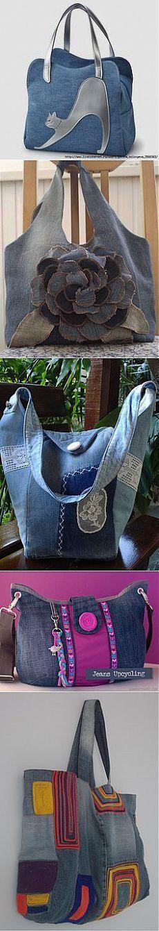 Сшить сумку из старых джинсов для обуви 32