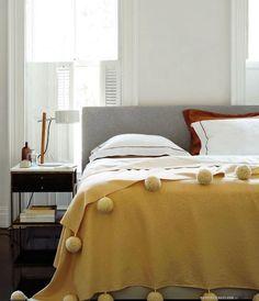 pom-pom bedspread