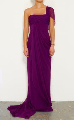 Marchesa Purple Dress