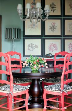 Fun and funky breakfast room design by Tobi Fairley