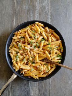 Penne with artichokes