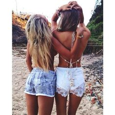 short, beach bestfriend, bestfriends beach, bff