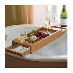Elegant Wood Bath Caddy