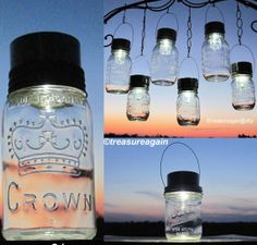 Mason Jar Solar Lids™The Original Twist-On Solar Lid Design by treasureagain  http://etsy.me/URW02i