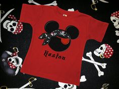 Pirate Mouse Applique Number Shirt for Boys  by CreateSewEmbellish, $25.00