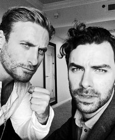Dean O'Gorman and Aiden Turner. I'm dead now, move along, nothing to see here.
