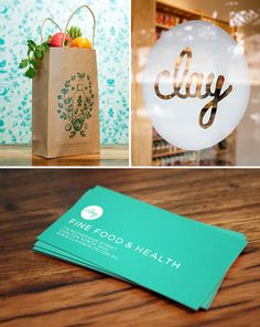Branding for Clay Fine Food and Health store by South South West