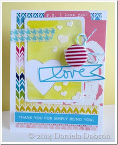 A.D.O.R.E. this card Daniela Dobson made with the Best Banners by Ali Edwards and Labels by Ali Edwards stamp sets. So well done!