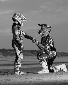 Omg! My dream proposal! #wedding #proposal #dirtbike