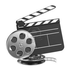 Clapboard and Film Reel...
