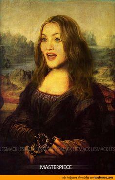Versiones divertidas de La Mona Lisa: Madonna.